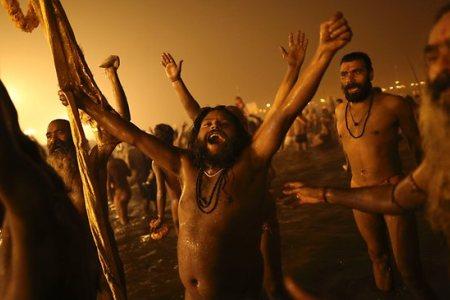 Sacred bath at kumbh ujjain
