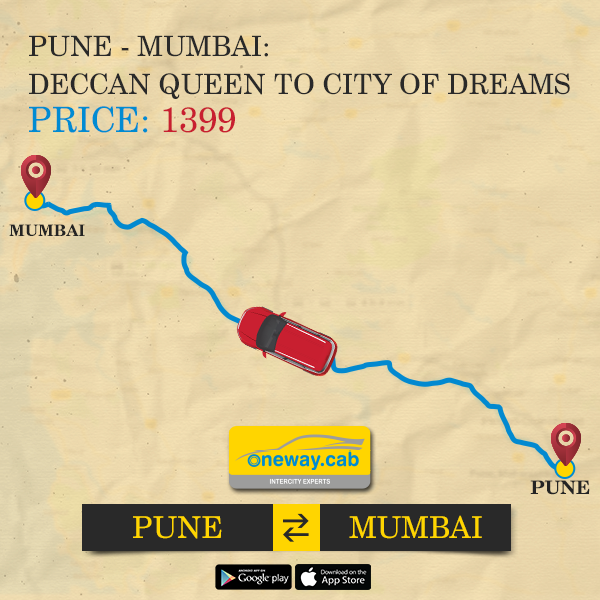 Pune to Mumbai OneWay Cab @ 1399